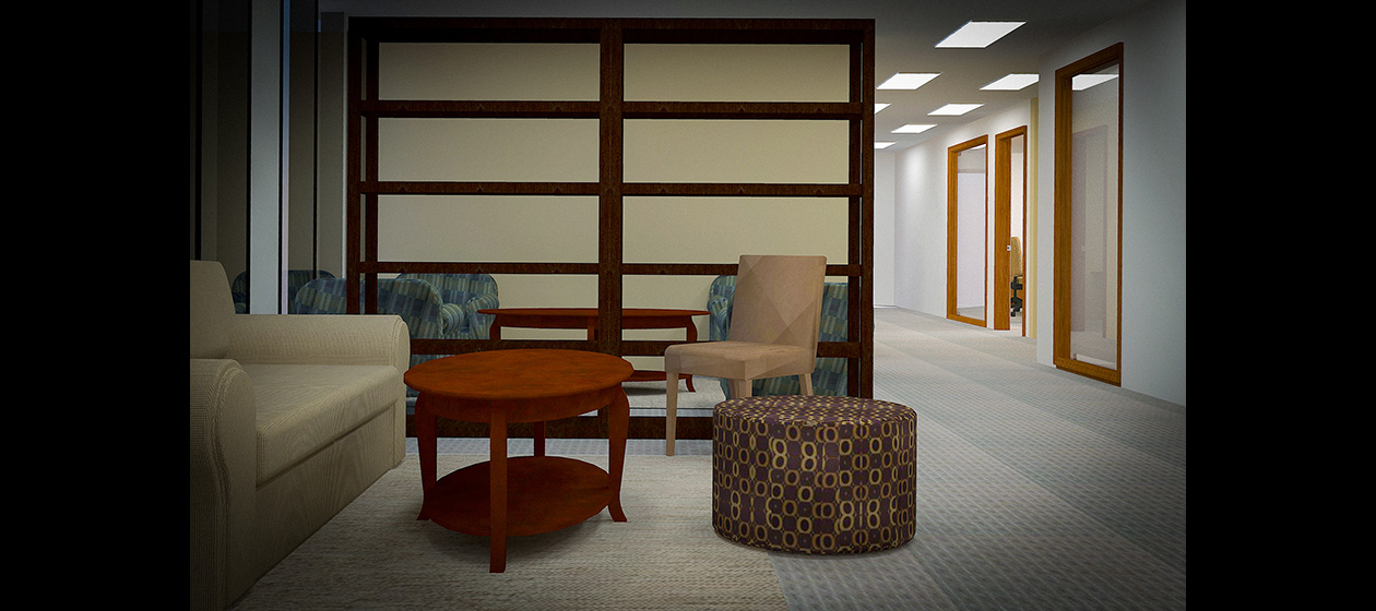 3D Rendered Office